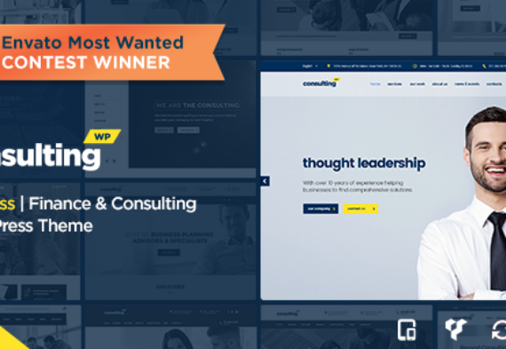 40+ Finance & Consulting WordPress Themes 2017