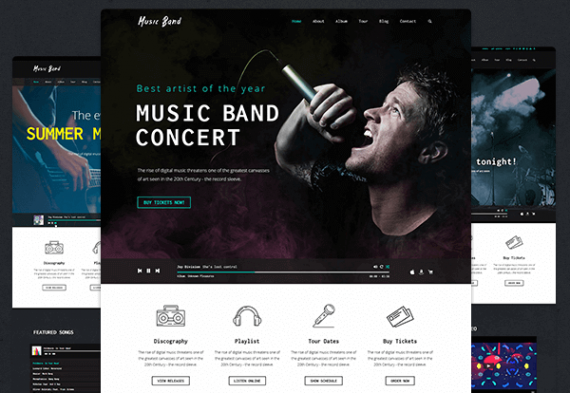 75+ Best Music WordPress Themes for Bands and Djs 2016
