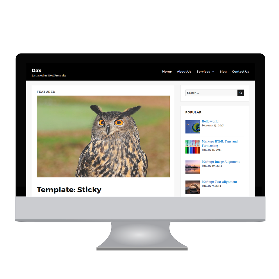 Dax - Free WordPress Theme - WPdia